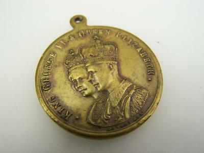 Medallion Coronation of King George VI Elizabeth I 1937 Victoria Australia  3273