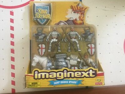 FISHER PRICE IMAGINEXT KING ARTHUR Silver Knights Brigade H2383