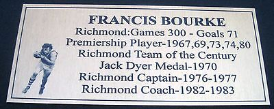 FRANCIS BOURKE  Richmond Tribute Plaque Free Postage