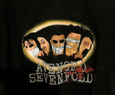 Avenged Sevenfold New Official Xl T-Shirt --- No Back Print --- No Patch Cd Pin
