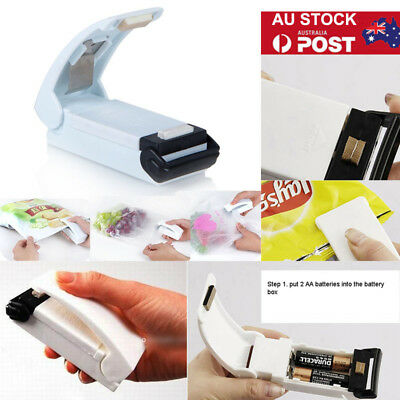 Mini Portable Sealing Machine Heat Handheld Plastic Bag Sealer Seal Kitchen Tool