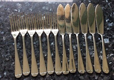Wonderful Set Of English Silverplate Fish Knives And Forks (12)