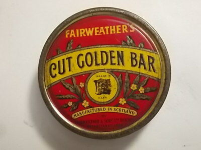 Old Fairweathers CUT GOLDEN BAR Empty 2oz. Tobacco Tin . G