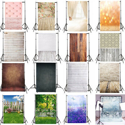 3x5FT Vinyl Wood Wall Photography Studio Backdrop  Background Valentine's Day