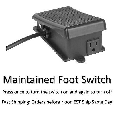Foot Switch - Maintained On Off -  Latching for Hands Free Power Tool Operation