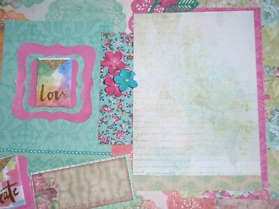 Handmade Scrapbook page - Stop and smell the flowers