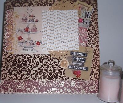 Handmade Scrapbook page - Be Your Own Kind of Beautiful