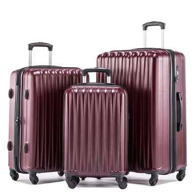 LightWeight Hardshell Spinner Luggage Sets 3 pieces ABS Hardside Suitcase Set