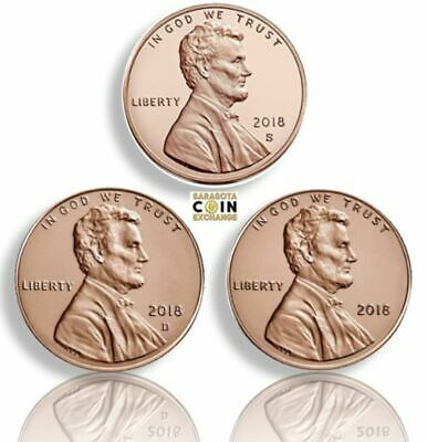 2018 S,P,D Lincoln Cents Shields All 3 S,P,D S Proof P,D All 3 Update Set