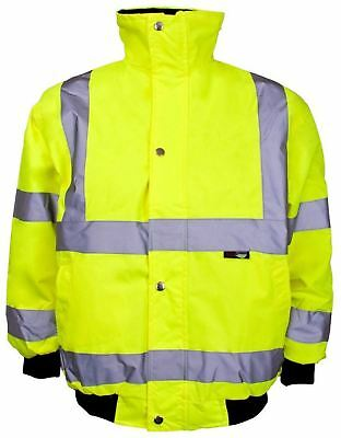 Junior High Visibility Bomber Jacket Boys Hi Viz Cycling Safety Bomber Jacket