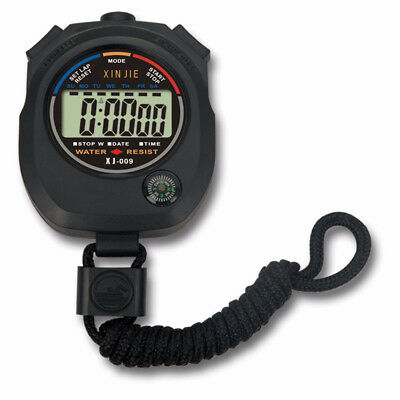 Chronograph LCD Stopwatch Counter Sports Alarm Stopwatch Waterproof Outdoor