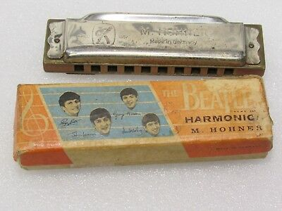 Beatles Original 1964 box and Harmonica By Hohner