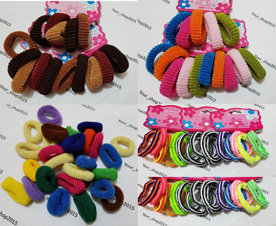 Thick Kids Girl Lady Elastic Rubber Hair Bands Ponytail Holder Head Rope Ties