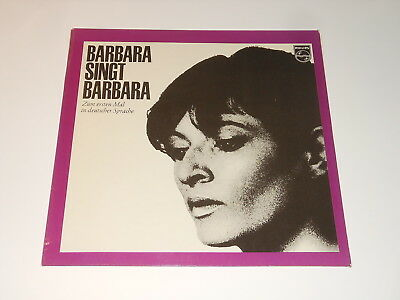 Barbara - LP + Insert - Singt Barbara - EN ALLEMAND - Philips 842 151