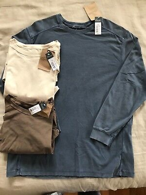 NWT Roundtree & Yorke XL Casuals Crew Nk Cotton T-Shirt $40 Ribbed Sides QFR