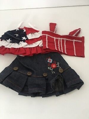America Lovin' Outfit with Two Interchangable Tops for American Girl Dolls