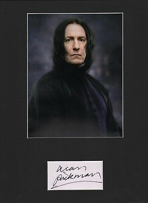 Alan Rickman. Authentic autograph. Signature as Severus Snape. Harry Potter.