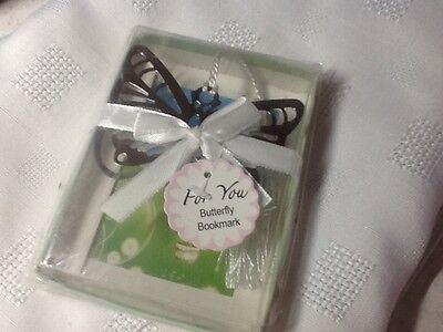 Beautiful butterfly bookmarker in gift box.