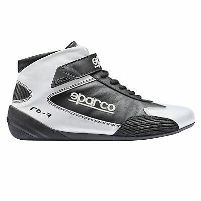 Sparco Cross RB-7 FIA Approved Leather Race Boots White / Black - UK 5 / Eur 38