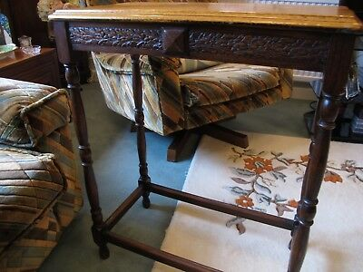 Antique Oak Side/ Occasional Table ( Victorian?)