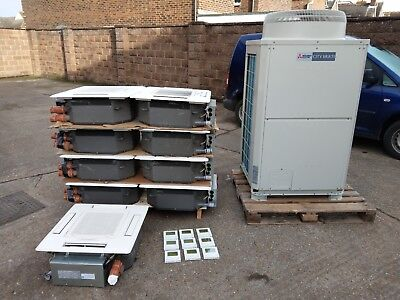 MITSUBISHI AIR CONDITIONING VRF City Multi 25Kw system with 9 cassettes 2015
