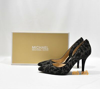 458240349bf9 Michael Kors Nathalie Flex Beaded suede High Heel Pump womens size 8.5