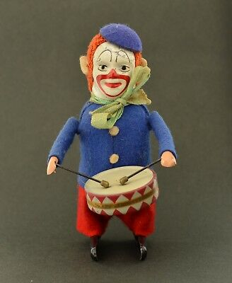Schuco Clown Trommler Nr. 986/1 Original Tanzfigur Made in Germany Top Zustand