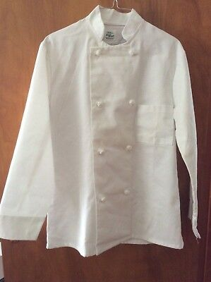 Chef's Jacket~Small~Double Breasted~Unisex~ White~MINT Condition
