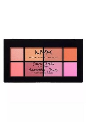 Nyx Professional Makeup sweet cheeks blush palette 8 shades
