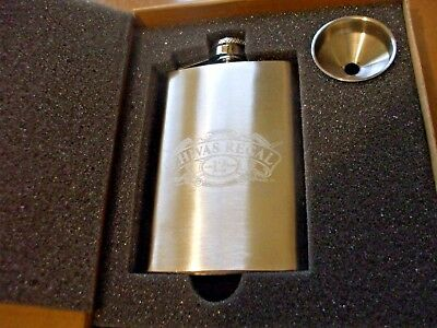 Lot Of (4) New In The Boxes Chivas Regal 4 Oz. Stainless Steel Hip Flasks