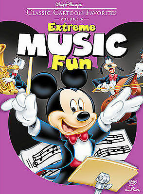 Walt Disneys Classic Cartoon Favorites Vol. 6 (DVD, 2005) Extreme Music Fun NEW!