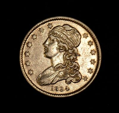 Us 1834 Capped Bust Variety 2 Reduced Diameter Quarter Dollar 25 Cent Ungraded