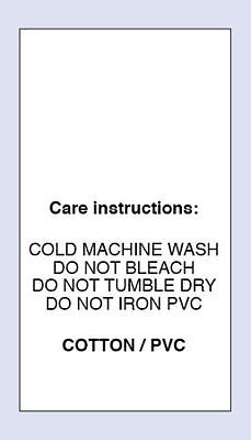 Polyester Cotton Warm Machine Wash Sewing Washing Care Label 5 Pack Sizes