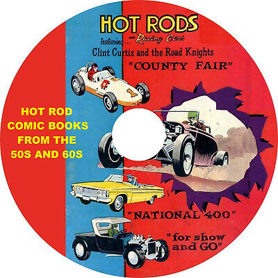 Hot Rod and Racing Comic Books from the 1950s and 60s on 1 DVD 123 comics in all