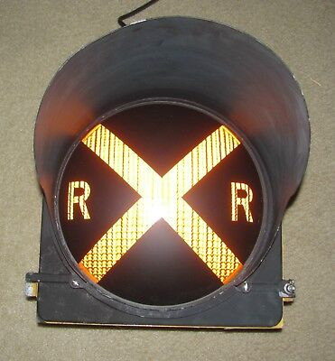 "12"" RAILROAD CROSSING Traffic Signal Light Yellow lens cap visor #A"