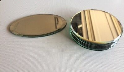 Display Mirrors for Swarovski Crystal - 4 inches round and Oval Lot Of 11