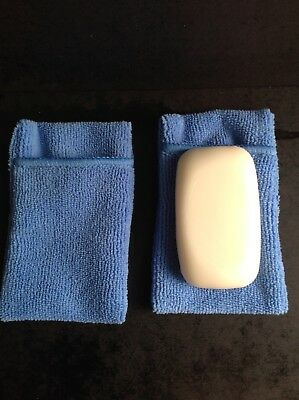 blue soap pouch and washer in one