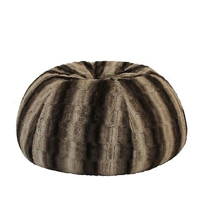 WOLF FUR BEANBAG Cover+Liner Deluxe Soft Bean Bag Lounge Chair Rich Earthy Tones