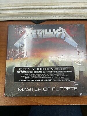 Metallica Master Of Puppets rmstrd 3 CD NEW sealed