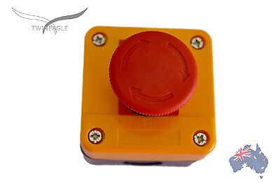 x 2 Emergency Stop switch control electrical 12V 24V E stop!