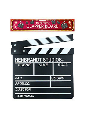 30x28cm Clap Clapper CLAPPERBOARD Board Film Movie Action Scene Slate Hollywood