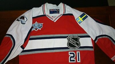 c2700aa8874 Authentic Pro Ccm Peter Forsberg 2001 Nhl World All Stars Game Jersey (Xl)