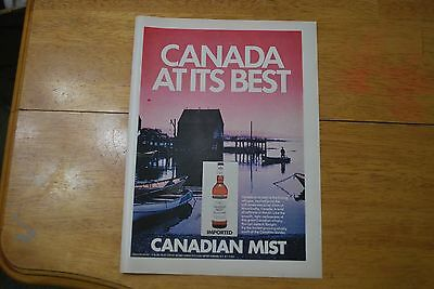 Canadian Mist - Canada at its Best 1972 Playboy Magazine ad - Excellent