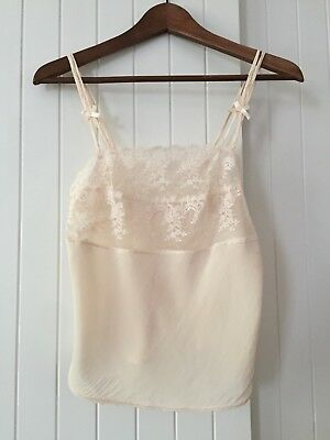 Amazing Vintage Retro 100% Silk and Lace Camisole Cami