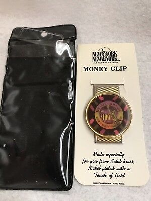 RARE $100 VINTAGE CHIP ON MONEY CLIP New York New York HOTEL/CASINO LAS VEGAS