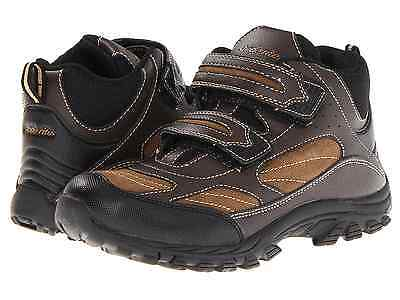 Stride Rite Boy's Boots Rugged Ritchie Brown Leather Size 12.5 US (30.5 EU) New