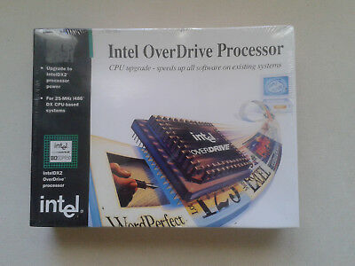 Intel Overdrive Dx2Odpr50.s 7934 Brand New In Unopened Sealed Box. 1994 Wow!!!
