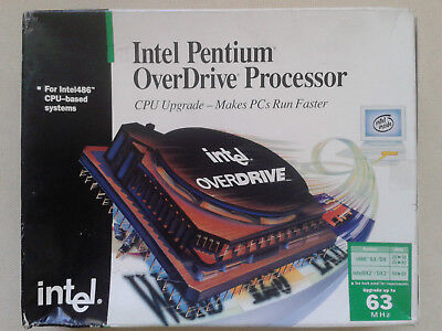 Intel Pentium Overdrive Aboxpodp5V63. Brand New In Opened Box.1995 Vintage.