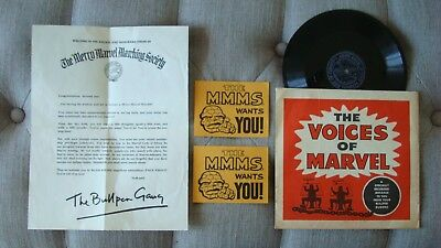 MARVEL MMMS 1st SERIES 1964 MERRY MARVEL MARCHING SOCIETY RECORD AND MORE *RARE*