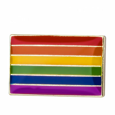 GAY PRIDE FLAG ENAMEL PIN Badge Lapel Brooch Fashion Gift Jewellery LGBT PN32